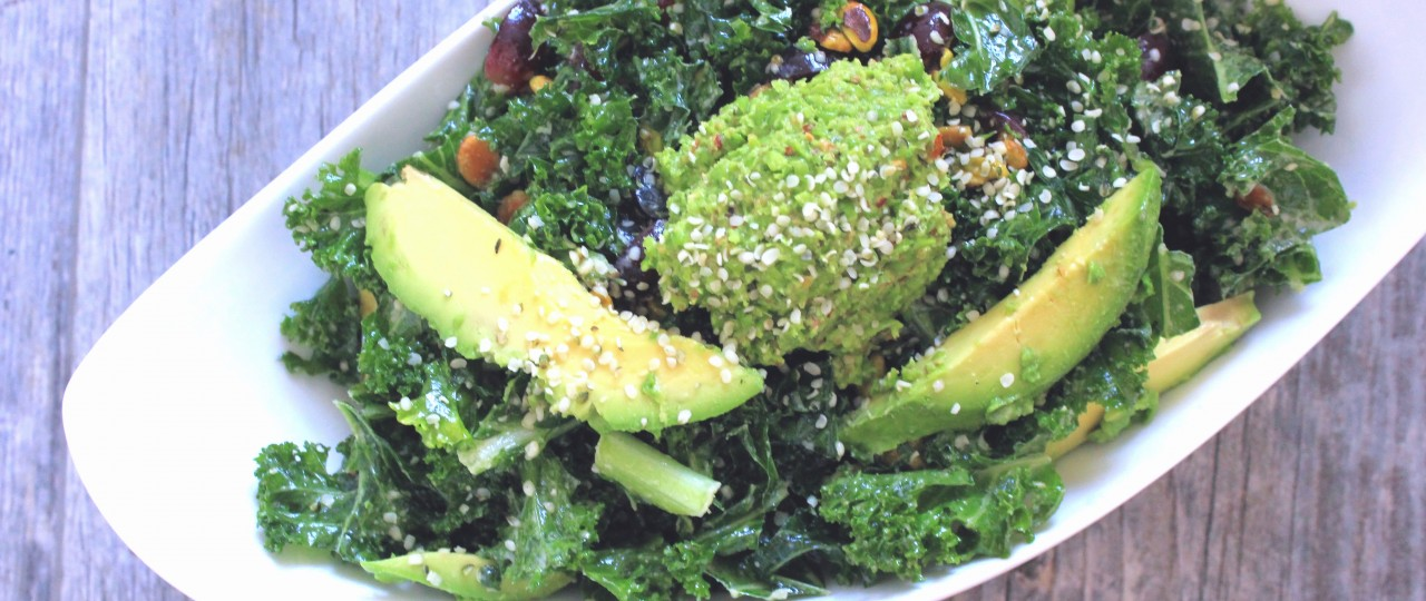 Kale Salad - plating